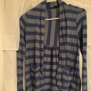 Urban Outfitters Blue and White Cardigan